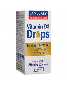 VITAMIN D3 Droppar - 20ml - Flytande D vitamin (varje droppe 200iu)
